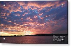Sunset Over The Narrows Waterway Acrylic Print by John Telfer