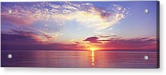 Sunset Over The Ocean, Gulf Of Mexico Acrylic Print