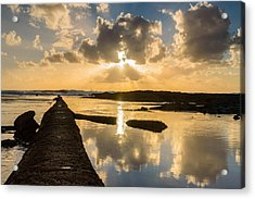 Sunset Over The Ocean I Acrylic Print by Marco Oliveira