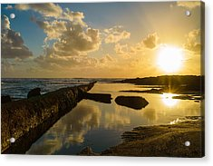 Sunset Over The Ocean II Acrylic Print by Marco Oliveira