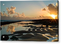 Sunset Over The Ocean IIi Acrylic Print by Marco Oliveira