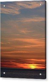 Sunset Over The Ocean Near Petit Etang Acrylic Print