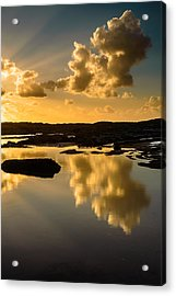 Sunset Over The Ocean V Acrylic Print by Marco Oliveira