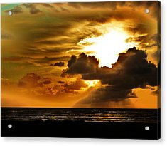 Sunset Over The Pacific II Acrylic Print by Helen Carson