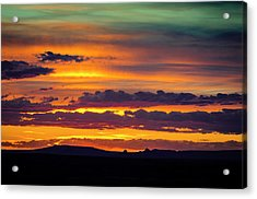 Sunset Over The Painted Desert Acrylic Print