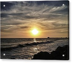 Sunset Over The Pier Acrylic Print
