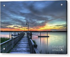 Sunset Over The River Acrylic Print