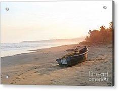 Sunset Over The Sea El Salvador Acrylic Print