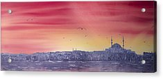 Sunset Over The Sea Of Marmar Acrylic Print