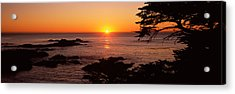 Sunset Over The Sea, Point Lobos State Acrylic Print by Panoramic Images