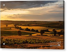 Sunset Over The Umbrian Countryside At Paciano Acrylic Print