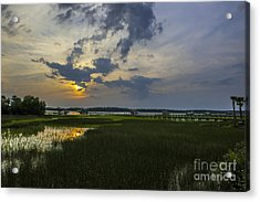 Sunset Over The Wando Acrylic Print