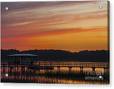 Acrylic Print featuring the photograph Sunset Over The Wando River by Dale Powell
