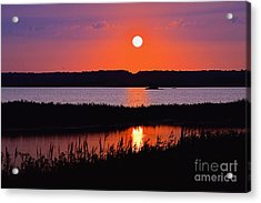 Sunset Over The Wetlands Acrylic Print