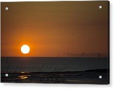 Sunset Over The Windfarm Acrylic Print
