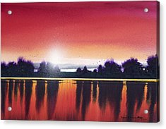 Sunset Over Two Lakes Acrylic Print