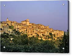 Sunset Over Vieux Nice - Old Town - France Acrylic Print by Christine Till