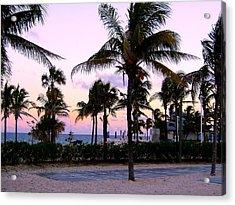 Sunset Over Waikiki Acrylic Print
