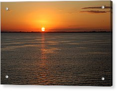 Acrylic Print featuring the photograph Sunset Over Water by Allen Carroll