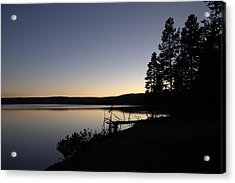 Sunset Over Yellowstone Lake Acrylic Print