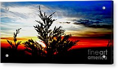 Sunset Overlooking Pacifica Ca V Acrylic Print by Jim Fitzpatrick