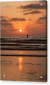 Sunset Paddle Acrylic Print by Sonny Marcyan