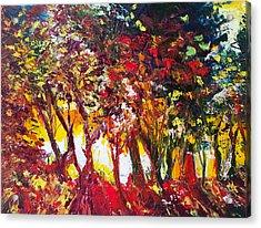 Sunset Painting Oil Fine Art Ekaterina Chenrova Acrylic Print