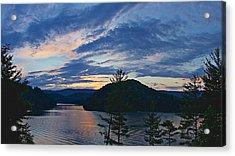 Sunset Pano - Watauga Lake Acrylic Print by Tom Culver