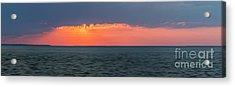 Sunset Panorama Over Ocean Acrylic Print