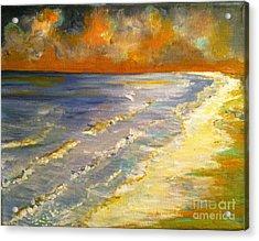 Sunset Passion At Cranes Beach Acrylic Print