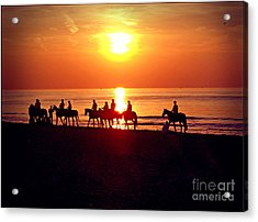 Sunset Past Time Acrylic Print