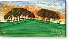 Sunset Pasture Acrylic Print by Larry Farris