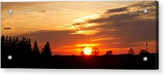 Sunset  Acrylic Print by Paulina Szajek