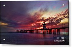 Sunset Acrylic Print by Peter Dang