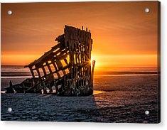 Sunset Peter Iredale Acrylic Print by James Hammond