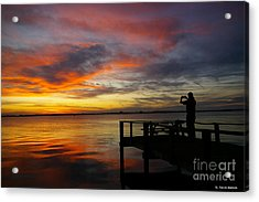 Sunset Photographer Acrylic Print by Tannis  Baldwin