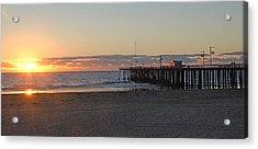 Sunset Pismo Beach Pier Acrylic Print