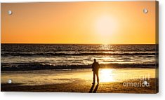 Sunset Pondering Acrylic Print by Julie Clements