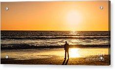 Sunset Pondering Acrylic Print