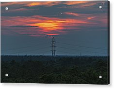 Sunset Power Over Pine Barrens Nj Acrylic Print