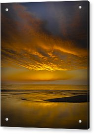 Sunset Power Acrylic Print by Thomas Pettengill