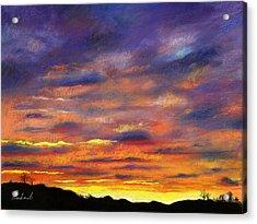 Sunset Acrylic Print by Prashant Shah