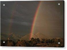 Sunset Rainbow Left Acrylic Print