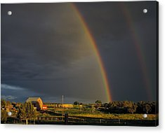 Sunset Rainbow Right Acrylic Print by Eric Rundle