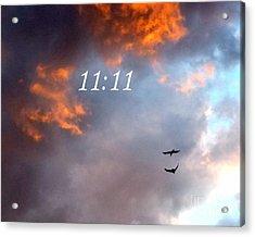 Sunset Raven 11 11 Acrylic Print by Marlene Rose Besso