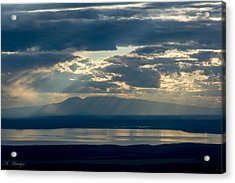 Sunset Rays Over Mount Susitna Acrylic Print by Andrew Matwijec