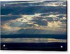 Sunset Rays Over Mount Susitna Acrylic Print