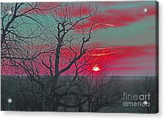 Sunset Red Acrylic Print by Renie Rutten