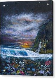 Sunset Reef Acrylic Print by John Garland  Tyson