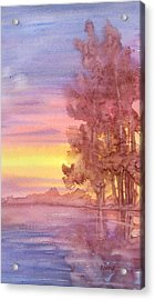 Acrylic Print featuring the painting Sunset Reflection by Rebecca Davis